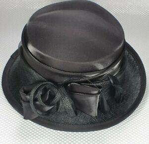 Jacqueline Meszaros Ladies Formal Wedding/Races/Occasions Hat Black - Lined