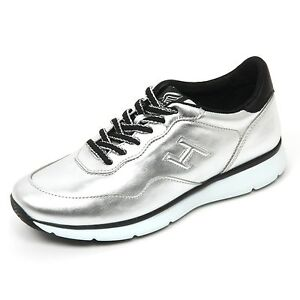B9436 sneaker donna HOGAN H254 TRADITIONAL 20 15 scarpa argento/nero shoe woman [35] FuyRhC