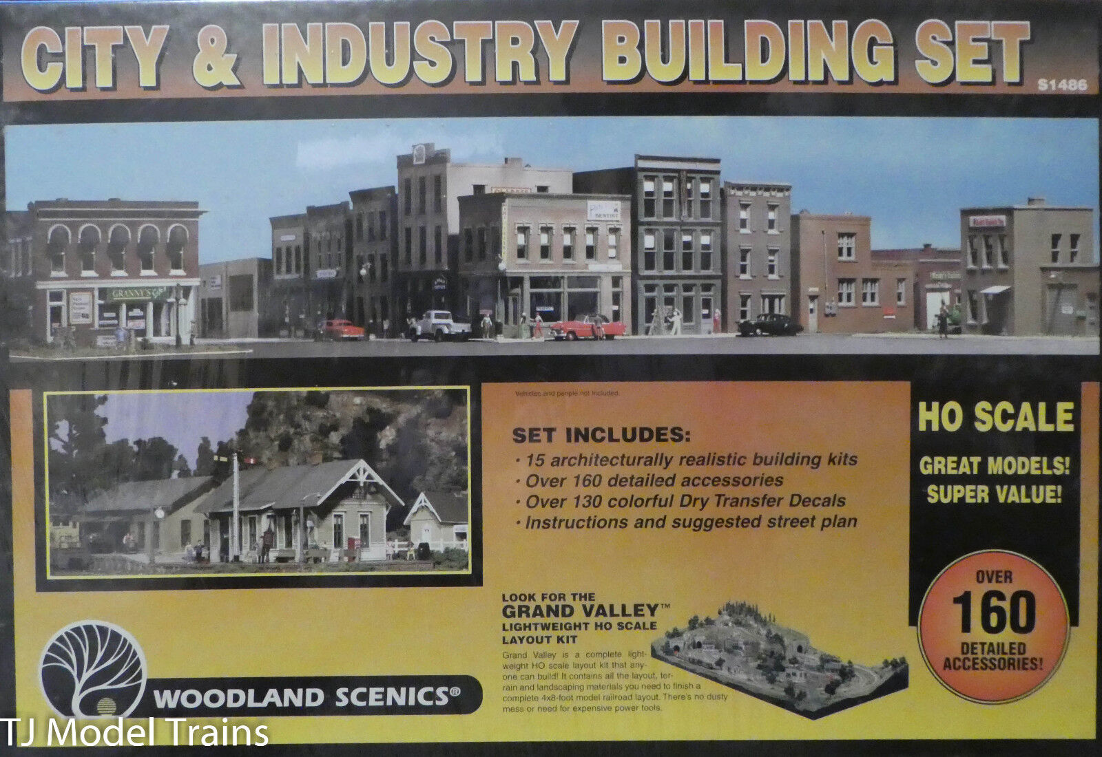 Woodland Scenics HO  1486 City and Industry Building Set