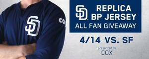 save off 05612 433f2 Details about SAN DIEGO PADRE replica Batting Practice (BP) jersey ~ Adult  XL ~ SGA 14 APR 18