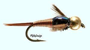 Copper-John-Nymphs-One-Dozen-NEW-Fly-Fishing-Flies-Choose-Hook-Size
