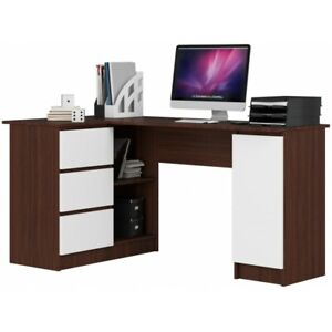 Schreibtisch Polin Eckschreibtisch Computertisch Tisch Weiss Sonoma Wenge Gross 25 Ebay
