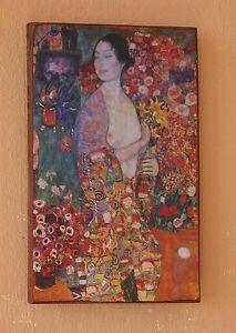 Hoffnung II Unikat auf 100 Jahre altem Ziegel Jugendstil Gustav Klimt 12