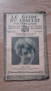 El-Guia-de-La-Concierto-Y-Las-Teatro-Letra-Louise-Matha-N-12-1928