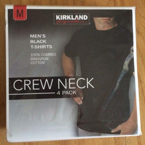 Kirkland Signature Men's Black T-Shirts - 4-Pack - All Sizes - Tee ...