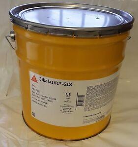 Details about SIKA - 618 1 x 15L Dark Grey Liquid Waterproofing Membrane  Roofing ( 15m2 )