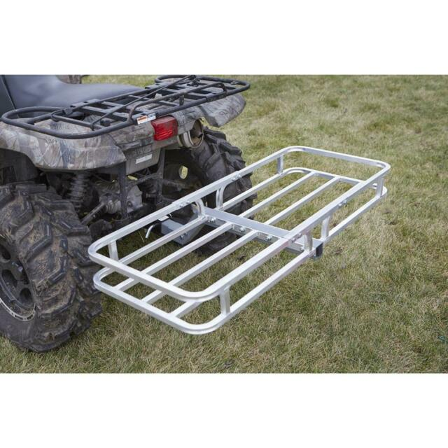ATV QUAD FOUR WHEELER CARGO CARRIER REAR RACK HITCH MOUNT RECEIVER BALL UTV MUV