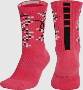 c8574af28a65a Details about Nike Elite Versatility Kay Yow Breast Cancer Basketball Crew  Socks Mens XL 12-15