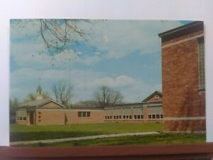 Vintage postcard. 1951 Granville Elementary School Granville Ohio.