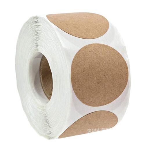 1 Rolle 500 stücke Kraftpapier Blank Dekorative Aufkleber Aufkleber Dots