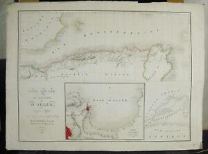 Ap-Sheik-Joussouf-amp-Lapie-Card-Spe-Ciale-Of-Kingdom-Algiers-Algeria-Xixth-1830