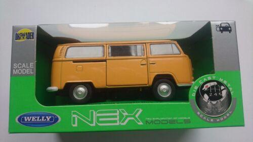 WELLY /'72 VW VOLKSWAGEN BUS T2 1:34 DIE CAST METAL MODEL NEW IN BOX