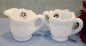 Westmoreland-Milk-Glass-Child-039-s-Creamer-and-Sugar-Set
