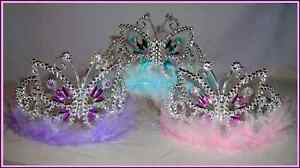 BUTTERFLY WITH MARABOU TIARA~*~FAIRY PRINCESS DRESS UP