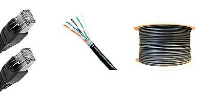 50/'Ft USA 600MHz Cat6 UV Shielded Outdoor Direct Burial Cable network Copper