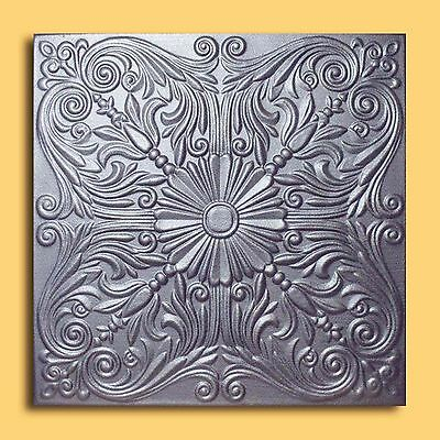 Styrofoam Ceiling Tile - ASTANA Silver Tin - Look Glue Up Easy Instalation