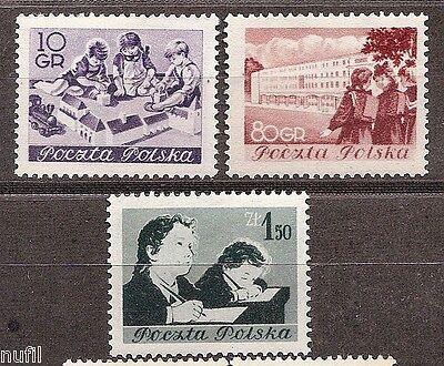 Studenten Gut Verkaufen Auf Der Ganzen Welt Polen Yv # 736/738 Mnh Schulen Polen
