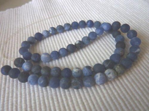 20 sodalith Matt Gemme Perle 6,5 mm environ boule bleu 147