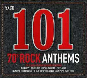 Various-Artists-101-70s-Rock-Anthems-Nuevo-5CDs