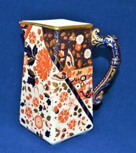 "Atq c1890 RIDGWAYS England Porcelain OLD DERBY Pattern 8""h Water Jug Pitcher"