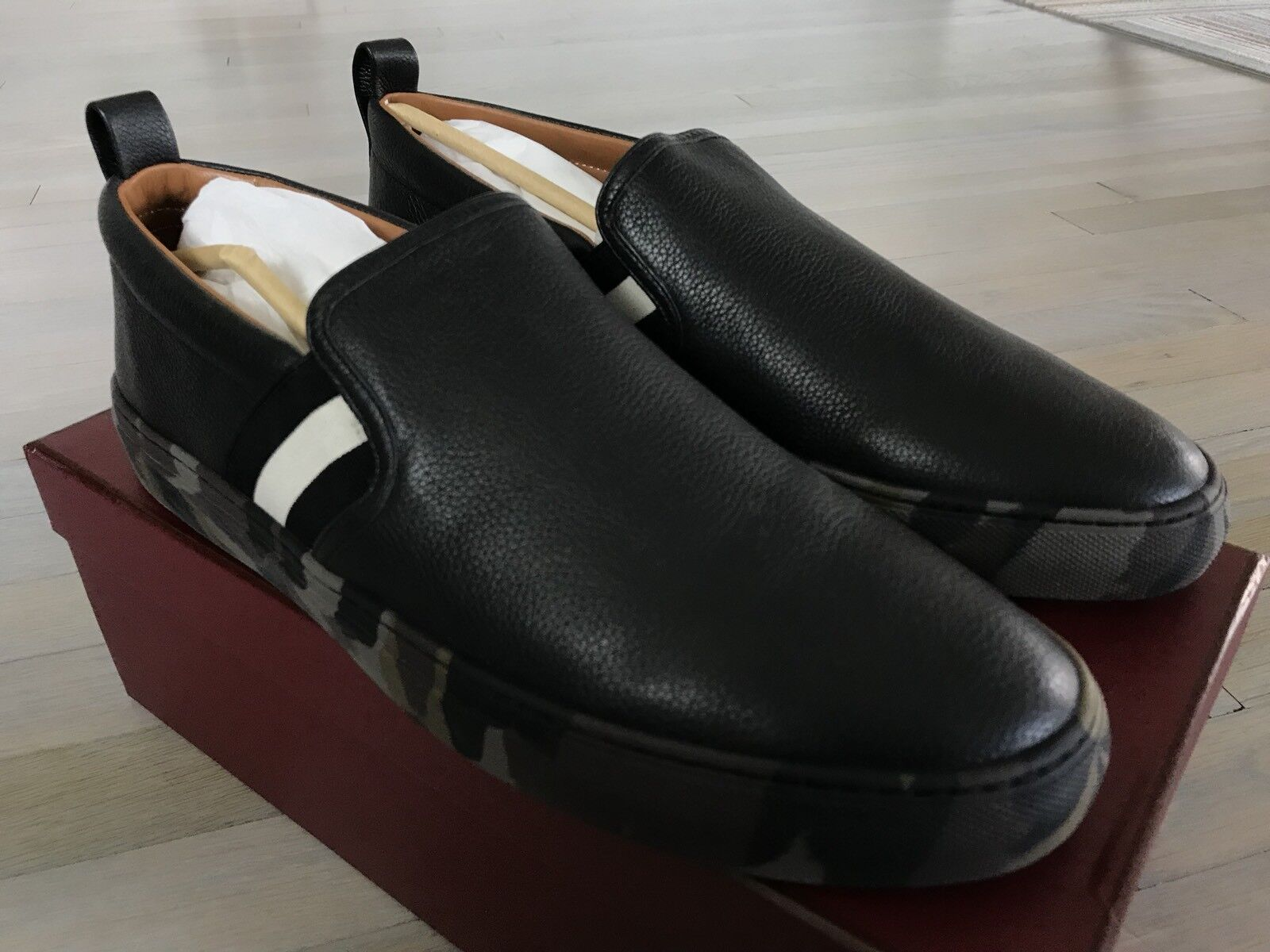 698ed19978f 550  Bally Herald 300 Black Leather Slip on Shoes Shoes Shoes size US 12.5  d92c2b