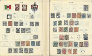 1863-1920 ITALY STAMP LOT ON ALBUM PAGE