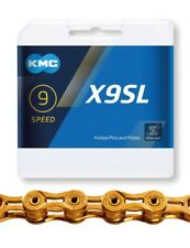 KMC X9 SL Gold 9fach-Kette Fahrradkette mit Kettenschloss