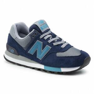 NEW-BALANCE-574-Core-Scarpe-Uomo-Sneakers-GREY-BLUE-ML574FND