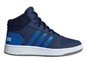 Adidas-HOOPS-MID-2-0-K-EE6707-Blu-Scarpe-Donna-Bambino-Sneakers-Ginnastica