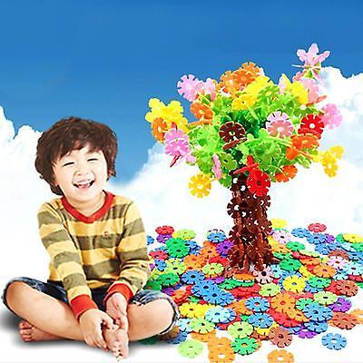 Multicolor Baby Kids DIY Snowflake Building Blocks Educational Toy Xmas Gift