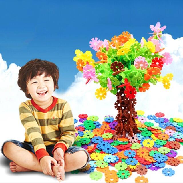 Multicolor Baby Kids DIY Snowflake Building Blocks Educational Toy Creative Gift