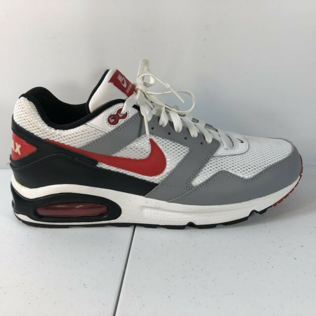 NIKE AIR MAX NAVIGATE WHITE GRAY RED SNEAKERS ATHLETIC SHOES Sz. 11.5 454251 101