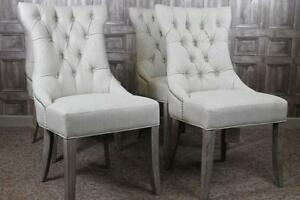 FRENCH STYLE UPHOLSTERED DINING CHAIRS IN ANTIQUE WHITE THE VERSAILLES EBay