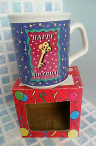 BOXED-21ST-POTTERY-GIFT-MUG-NEW-OTHER