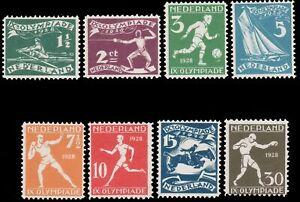 Netherlands-1928-OLYMPIC-GAMES-SET-MNH-B25-B32-crease-in-no-B29-cv-9-00