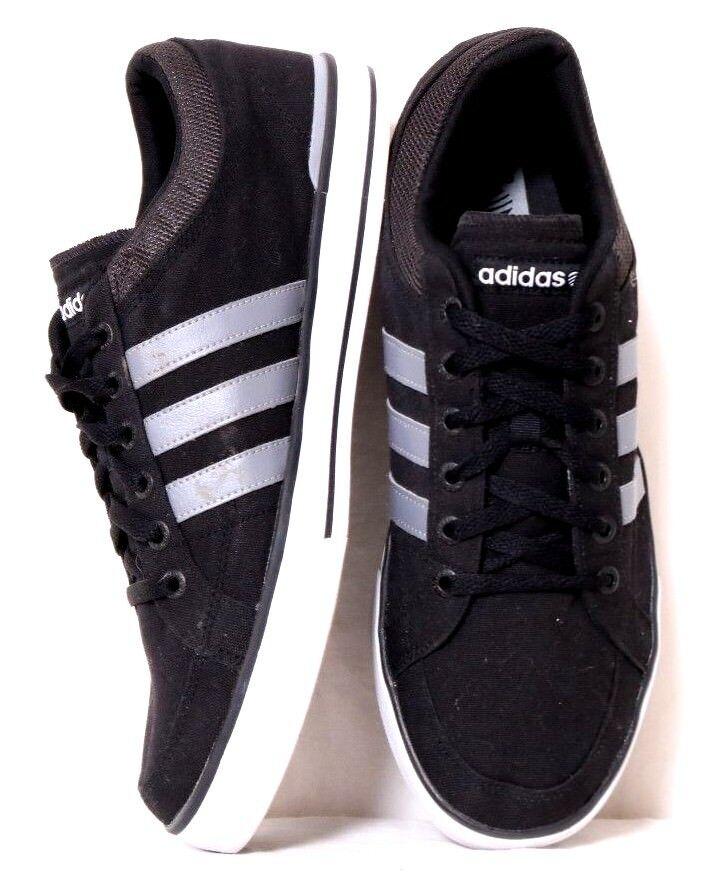 adidas bbneo skool lo schwarzen up leinwand grau gestreiften lace up schwarzen sneaker männer uns 13. a5c530