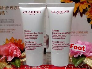 SALE-CLARINS-Foot-Beauty-Treatment-Cream-30MLX2-Beautifies-Nails-034-P-FREE-034