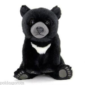 Real Stuffed Asiatic black bear Baby COLORATA Plush animal ...