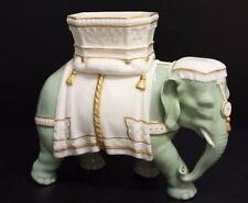 "Royal Worcester Hadley Celadon and Cream Elephant ~ 8"" Tall"