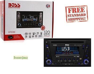 Boss Audio 870DBI Double DIN CD/MP3/USB Player w/Detachable Panel & Bluetooth