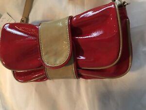 Hananel Patent Leather Red Wristlet