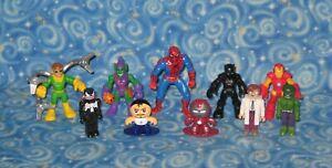 Lot 10 Marvel Actionfiguren Super Helden und Schurken Spiderman TOP