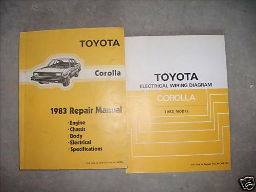 1983 Toyota Corolla Workshop Service Repair Shop Manual
