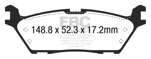 2WD EBC for 15 Ford F150 2.7 Twin Turbo Electric PB Greenstuff Rear Brake Pad