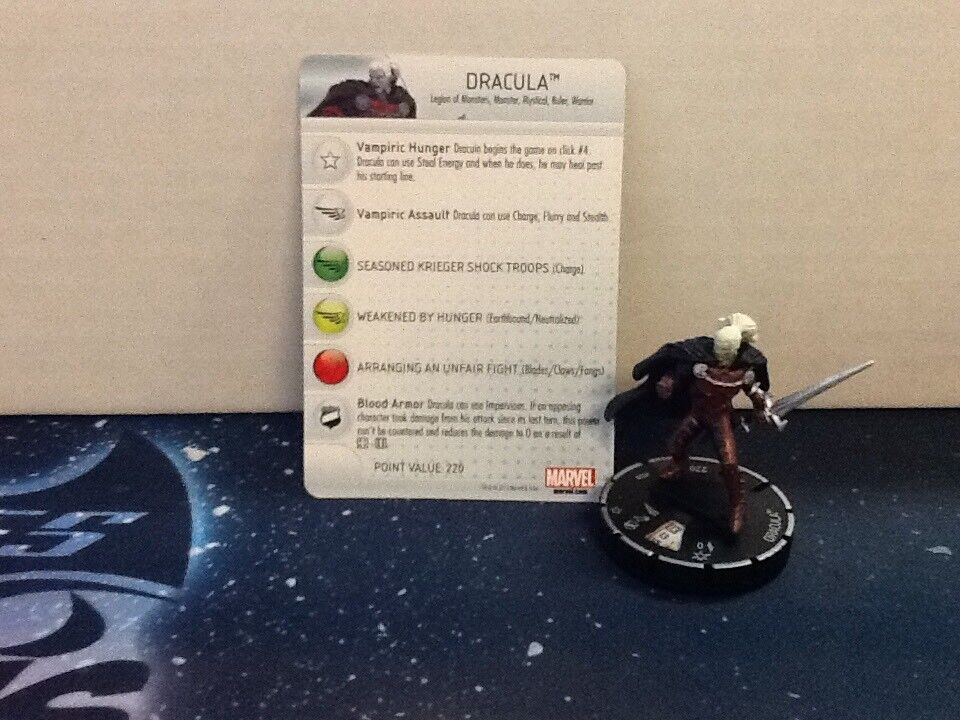 DRACULA HEROCLIX SUPER RARE FEAR ITSELF FI028 WITH CARD (HCB16)