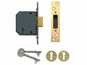 Yale-Locks-P-M552-PB-65-Lever-Mortice-Dead-Lock-64mm-2-5-inch-Polished-Brass-F