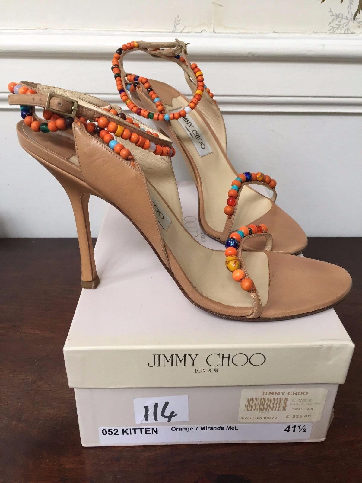 Jimmy Choo Gatito Naranja Naranja Naranja Miranda Tamaño del zapato 41 UK8  buena calidad