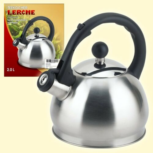 Edelstahl Pfeifkessel Wasserkocher nicht magnetisch Чайник со свистком