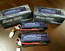 2x Gens ace 4000mAh 11.1V 50C 3S1P Lipo Battery Traxxas SLASH RUSTLER REVO 5000