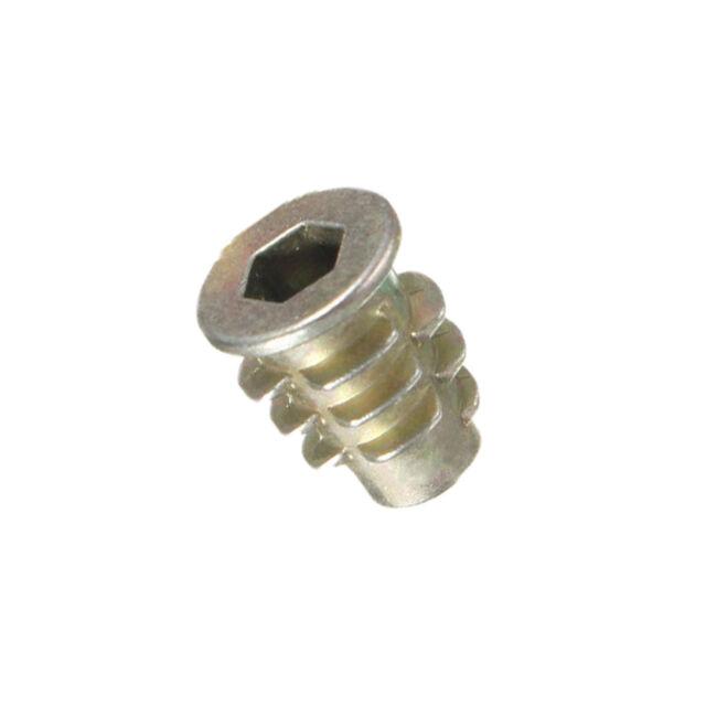 50 pieces M4 M5 M6 zinc-hexagonal drive head screw For wood thread insert nut VP